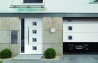 Подъемно секционные стальные гаражные ворота Hormann LPU 40 серии Design